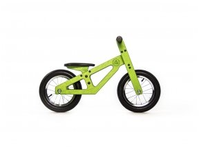 Žalias balansinis dviratukas