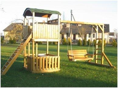 Žaidimų aikštelė su dvigubomis supynėmis 3