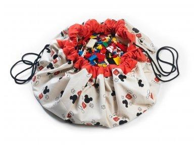 """Žaidimų kilimėlis-krepšys """"Mikis"""""""