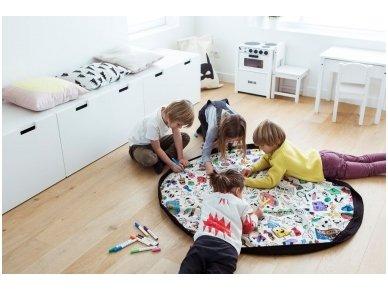 """Žaidimų kilimėlis-krepšys """"Nuspalvink mane"""" 4"""