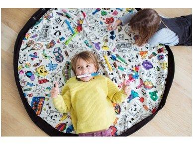 """Žaidimų kilimėlis-krepšys """"Nuspalvink mane"""" 5"""
