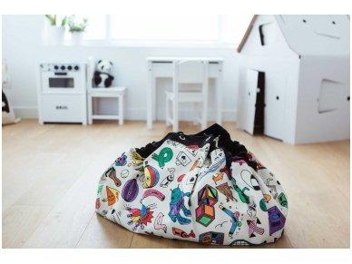 """Žaidimų kilimėlis-krepšys """"Nuspalvink mane"""" 2"""